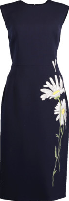 Atelier Herve Pierre Slim Embroidered Daisy Dress