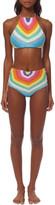 Mara Hoffman Crochet Halter Bikini Top