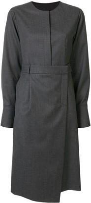 GOEN.J Shirt Style Wrap Dress