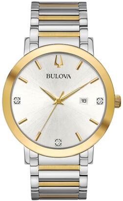 Bulova Men's Futuro Diamond Embellished Two-Tone Watch, 42mm - 0.02 ctw