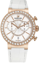 Swarovski Citra Sphere Chrono White Rose Gold Tone Watch