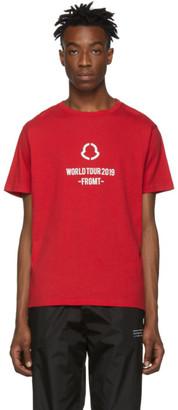 MONCLER GENIUS 7 Moncler Fragment Hiroshi Fujiwara Red World Tour T-Shirt