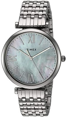 Timex 35 mm Parisienne 3-Hand (Silver/Mother-of-Pearl/Silver) Watches