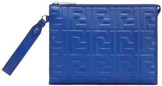Fendi Logo Leather Clutch Bag