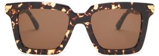 Bottega Veneta Square Tortoiseshell-acetate Sunglasses - Tortoiseshell