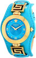 Versace Women's VLA080014 V-SIGNATURE Analog Display Swiss Quartz Turqoise Watch