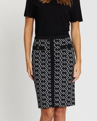 Wallis Chain Detail Pencil Skirt