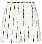 MSGM brand stripe shorts