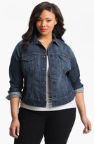 Lucky Brand 'Adelaide' Denim Jacket (Plus Size)
