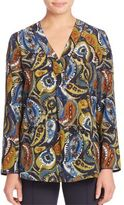 Lafayette 148 New York Libbly Silk Painterly Paisley-Print Blouse