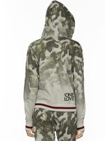 Peace Love World One Love One World Love Life Camo Zip Hoodie