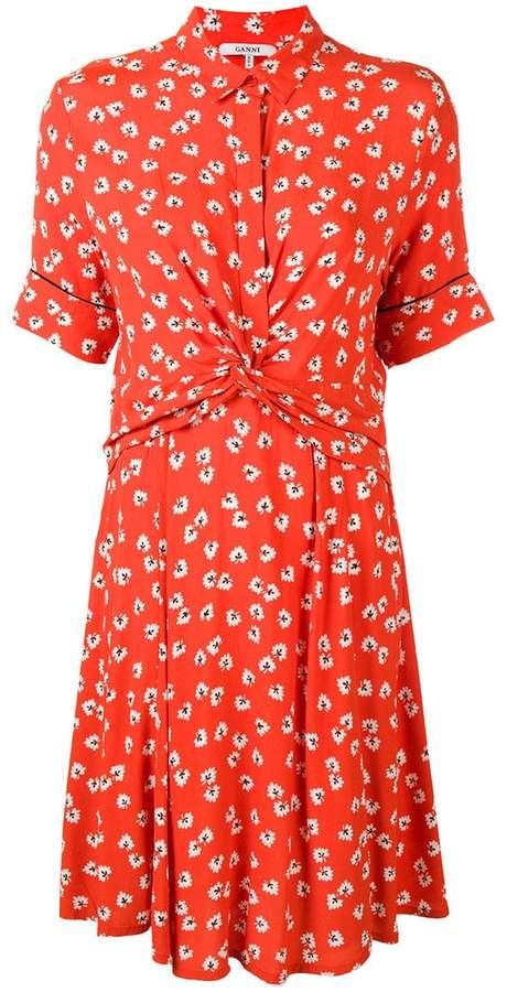 Ganni printed twist dress