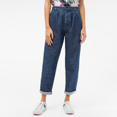 Paul Smith Women's Straight-Fit Pleated Mid-Wash Denim Jeans