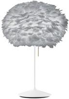 EOS Umage UMAGE - Medium Light Grey Feather With White Stand Table Lamp - Grey/White