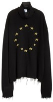 Vetements Women's Star Turtleneck Sweater