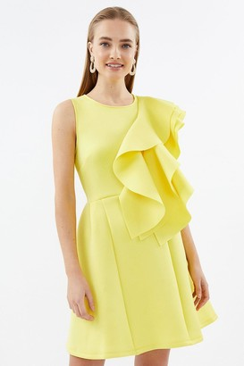 Coast High Neck Triple Frill Dress