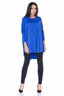 FUTURO FASHION Ladies Trendy Casual Floaty Kaftan Oversized Tunic Comfy Top FM40 Royal Blue