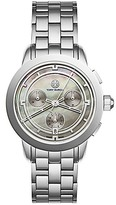 Tory Burch Tory Watch, Stainless Steel/Gray Mother Of Pearl Chronograph, 37 Mm