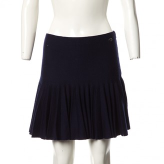 Chanel Navy Wool Skirts