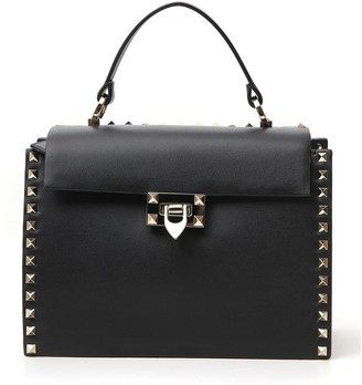 Valentino Rockstud Top Handle Shoulder Bag