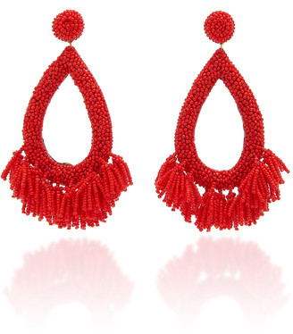Deepa Gurnani Rafela Beaded Drop Earrings