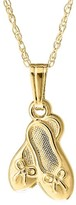 Girl's Mignonette 14K Gold Ballet Shoe Pendant Necklace