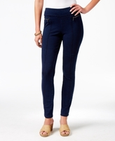 Style&Co. Style & Co Style & Co Petite Zip-Detail Skinny Pants, Created for Macy's