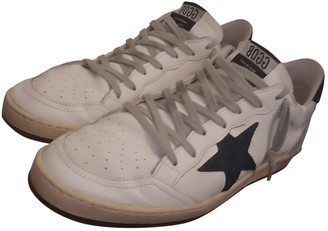 Golden Goose Ball Star Blue Suede Trainers
