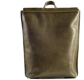 """Kartu Studio Natural Leather Backpack """"Ginger"""" Reptile Print Khaki"""
