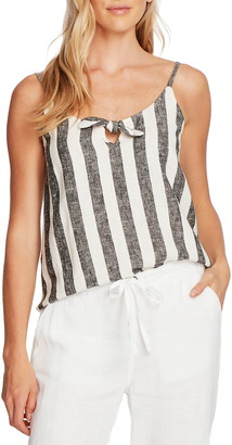 Vince Camuto Bold View Stripe Linen Blend Tank Top