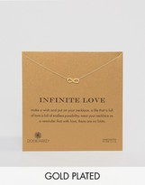 Dogeared Gold Plated Infinity Love Reminder Necklace