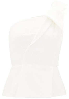 Roland Mouret Whitefield Rippled-plisse One-shoulder Top - White