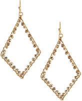 Panacea Crystal Diamond-Silhouette Drop Earrings, Golden