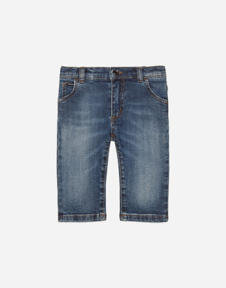 Dolce & Gabbana Regular-Fit Dark Blue Wash Stretch Jeans