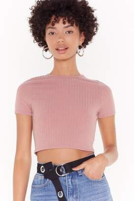 Nasty Gal Womens Soft Rib Cropped Tee - pink - 4