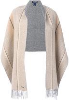 Woolrich armhole stripe scarf