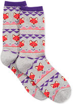 Hot Sox Women's Fox Fairisle Socks