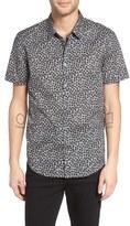 John Varvatos Slim Fit Floral Print Sport Shirt