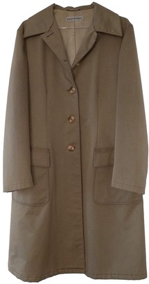Emporio Armani Beige Cotton Trench Coat for Women Vintage