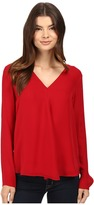 Heather Silk Double Layer Long Sleeve Top