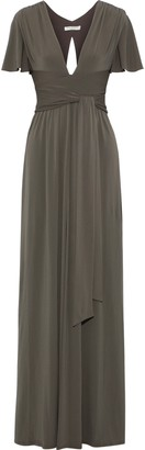 Halston Split-front Stretch-jersey Gown