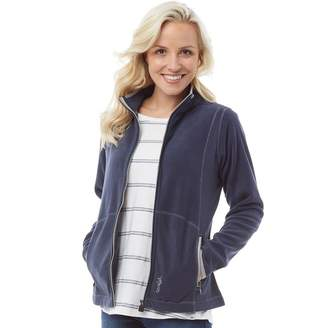Weird Fish Womens Christa Full Zip Micro Fleece Navy