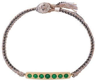 Brooke Gregson 14kt gold 7 Emerald Bar Bracelet