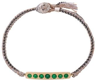 Brooke Gregson 14kt gold 7 Emerald Bar Bracelet