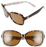Kate Spade Women's 'Ayleen' 56Mm Polarized Sunglasses - Beige/ White Stripe