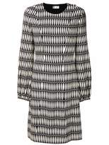 Lanvin tie print midi dress