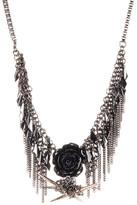 French Connection Shaky Frontal Chain Fringe Necklace
