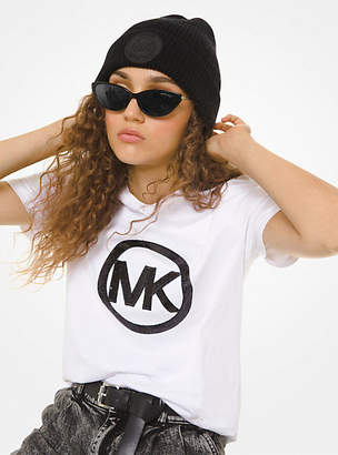 MICHAEL Michael Kors Sequined Logo Cotton-Jersey T-Shirt