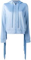 Love Moschino zip knit hoodie - women - Cotton/Polyester - 40