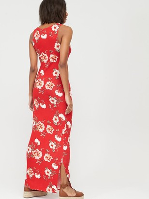 Very Tall V-Neck Jersey Maxi Dress - Red